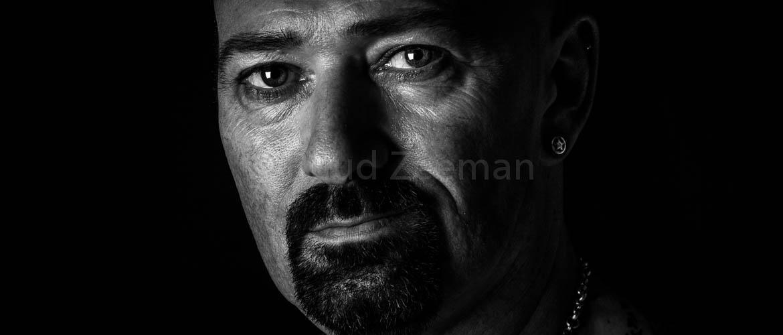 zwart wit portret man